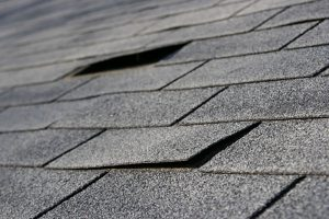 damaged roofing tiles