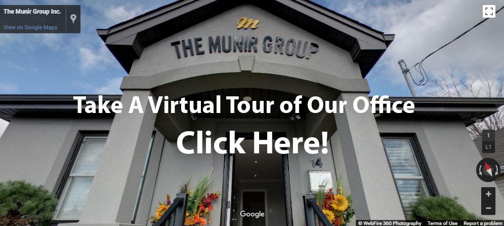 google virtual tour of the munir group office